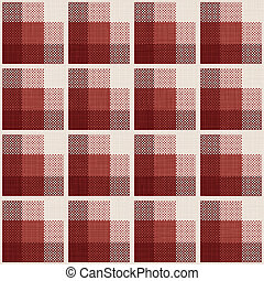Tartan - seamless pattern with tartan and textile texture