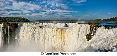 Iguazu falls, View from the argentinian side. - Iguazu...