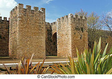 Arched entrance in Lagos, Algarve, Portugal - Moorish fort...