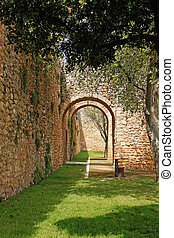 Arched entrance way in Lagos, Algarve, Portugal - Moorish...
