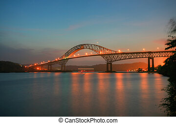 Beautiful bridge connected South and North Americas Puente...