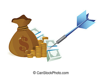 target money illustration design over a white background