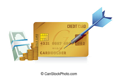 credit card concept illustration design