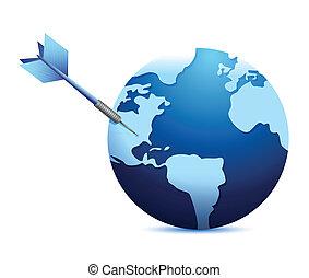 target international business concept illustration
