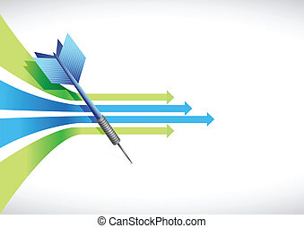 Business leader arrow illustration design over white
