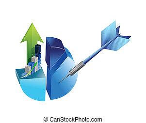 target business success illustration design