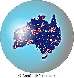 australian globe - Globe showing the map of Australia made...