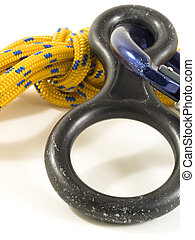 carabiner and rope with DOF