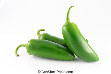 Jalapeno Peppers - Fresh jalapeno peppers isolated on white...