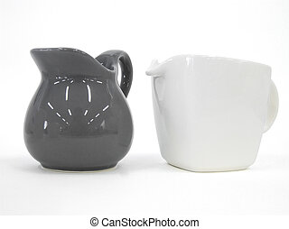 Teapot and Milk Pot isolated