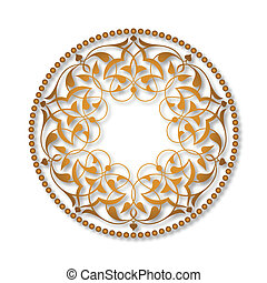 Golden Ottoman patterns over white