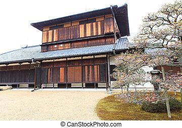 Nijo Castle in Winter Season. Kyoto Japan.
