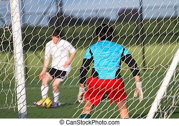 Football (soccer) goalie - Footballl (soccer) goalkeeper...