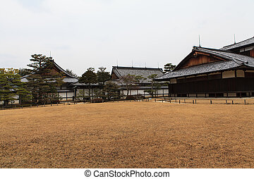 Nijo Castle in Winter Season Kyoto Japan