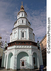 Cathedral (1689) of the St. Intercession orthodox Monastery in Kharkiv, Ukraine