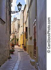 Alleyway. Presicce. Puglia. Italy.