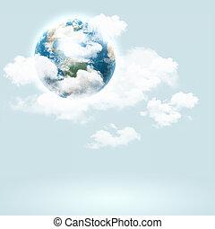 Background image with globe illustration