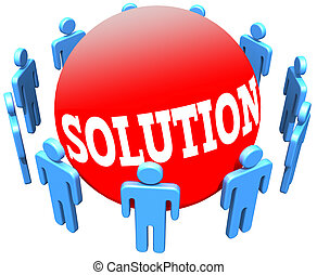 People join ring find social Solution - Circle of people...