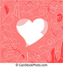 Heart love card, valentine day abstract background