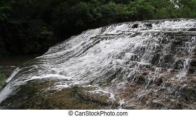 Thistlewaite Falls Loop - Whitewater cascades over rock...