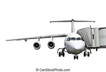 airplane in preparation isolated on white