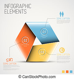 Abstract shape with Infographic - Vector Abstract colorful...