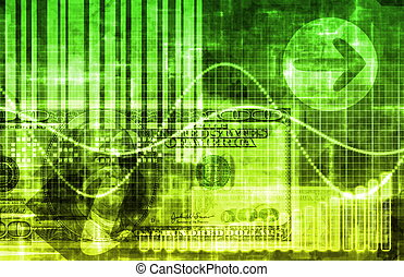 Green Money Technology Business Background as Art