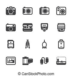 Camera and Camera Accessories Icons - Camera Icons and...