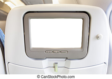 Aircraft monitor in passenger chair
