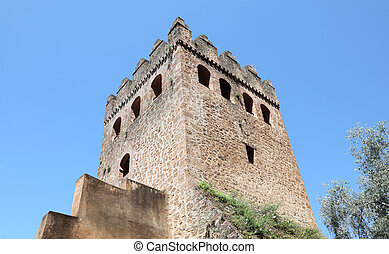 Tower of the Casbah in Chefchaouen, Morocco