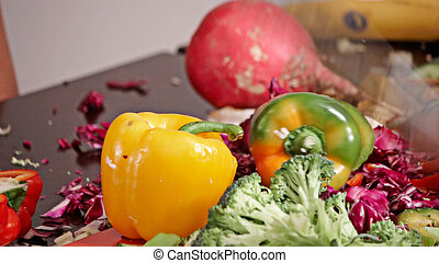 crazy chopping vegetables