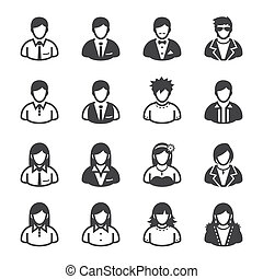 User Icons and People Icons with White Background