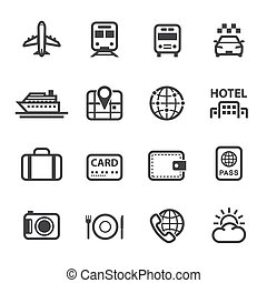 Travel and Vacation Icons - Travel Icons and Vacation Icons...