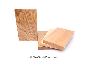 One board acacia and three boards lime, elm, oak