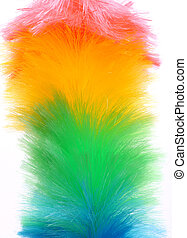 Soft colorful duster close-up