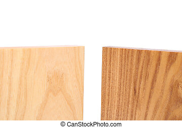 Top two boards (elm, acacia)