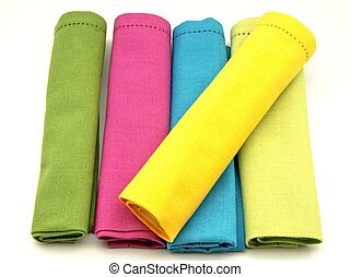 Napkins in various colors