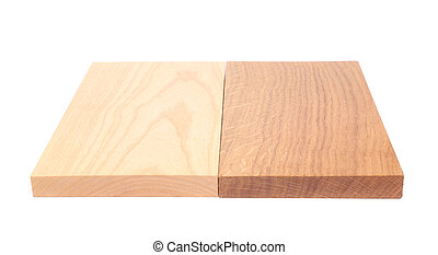 Two boards (elm, oak)