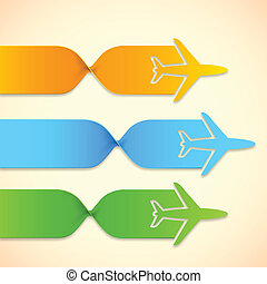 Airplane in Travel Infograph - illustration of paper...