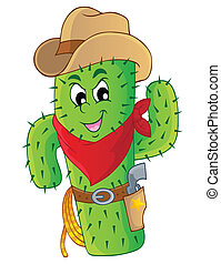 Cactus theme image 3 - eps10 vector illustration