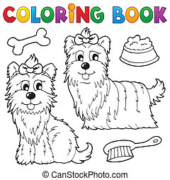 Coloring book dog theme 6 - eps10 vector illustration.