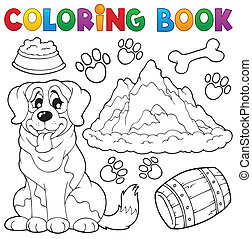 Coloring book dog theme 7 - eps10 vector illustration.