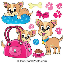 Cute dog theme image 1 - eps10 vector illustration