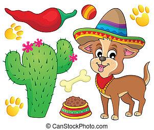 Cute dog theme image 3 - eps10 vector illustration.