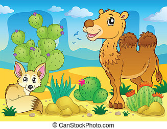 Desert theme image 4 - eps10 vector illustration