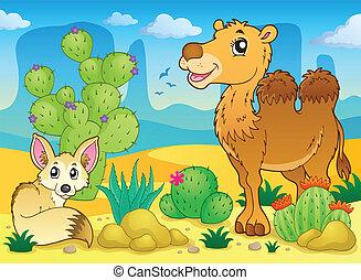 Desert theme image 4 - eps10 vector illustration.