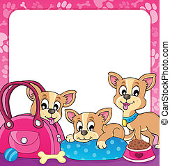 Frame with dog theme 3 - eps10 vector illustration.