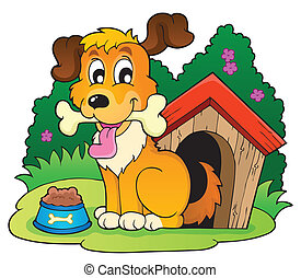 Image with dog theme 4 - eps10 vector illustration.