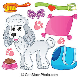 Image with dog theme 9 - eps10 vector illustration.