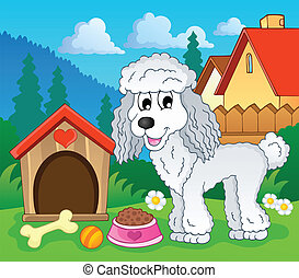 Image with dog topic 1 - eps10 vector illustration.